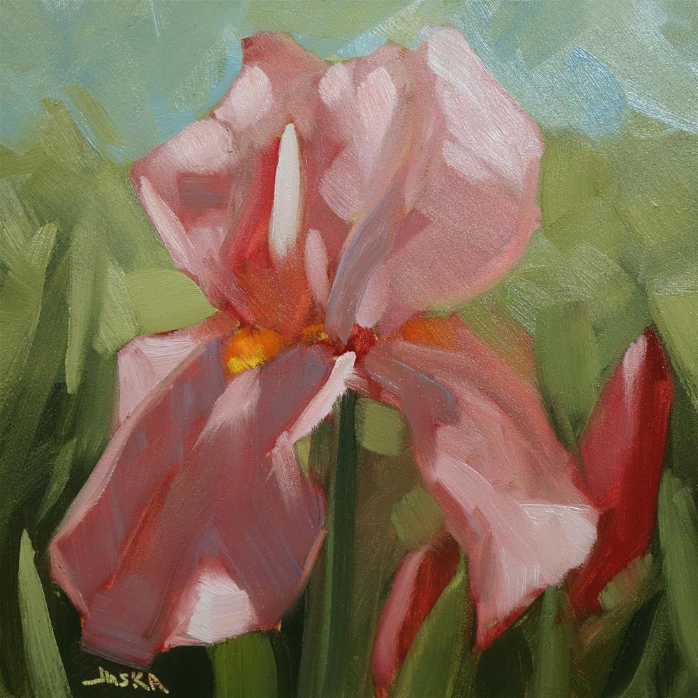 """Iris - Pink Tones"" original fine art by Elaine Juska Joseph"