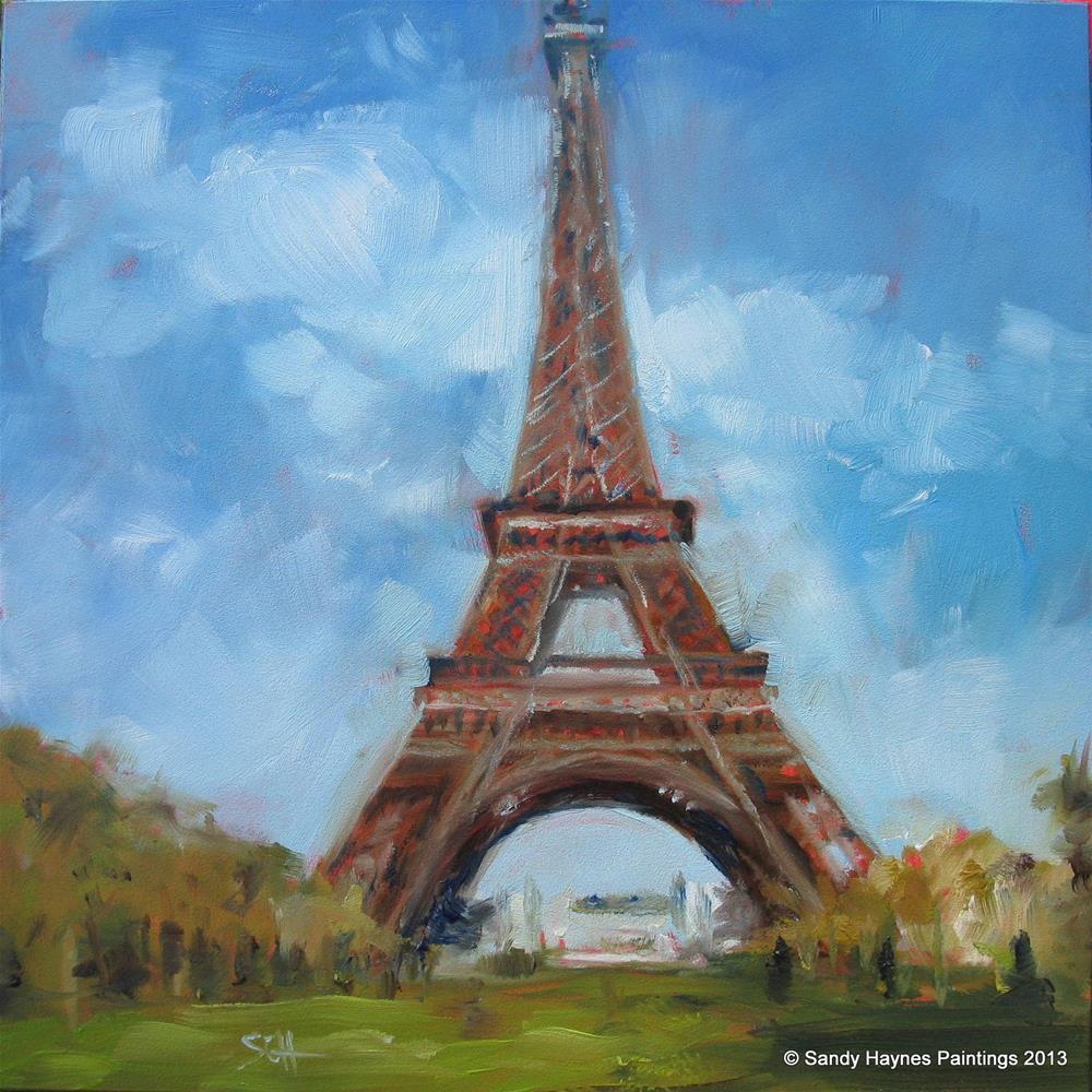 """""""Eiffel Tower #135"""" original fine art by Sandy Haynes"""
