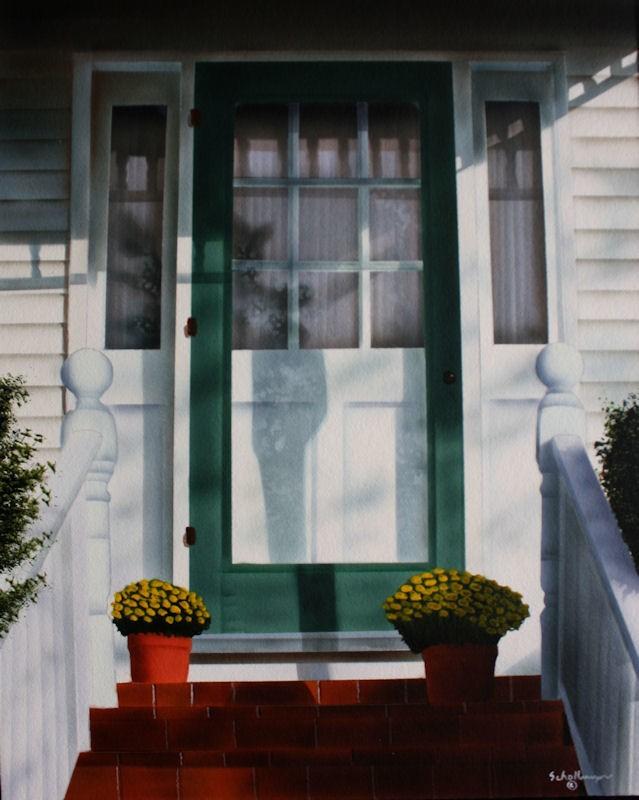 """""""Porch on Maple Street"""" original fine art by Fred Schollmeyer"""