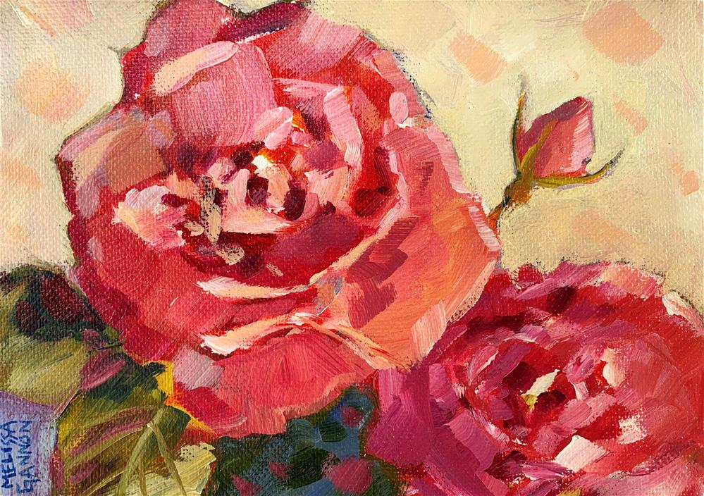 """Roses of August"" original fine art by Melissa Gannon"