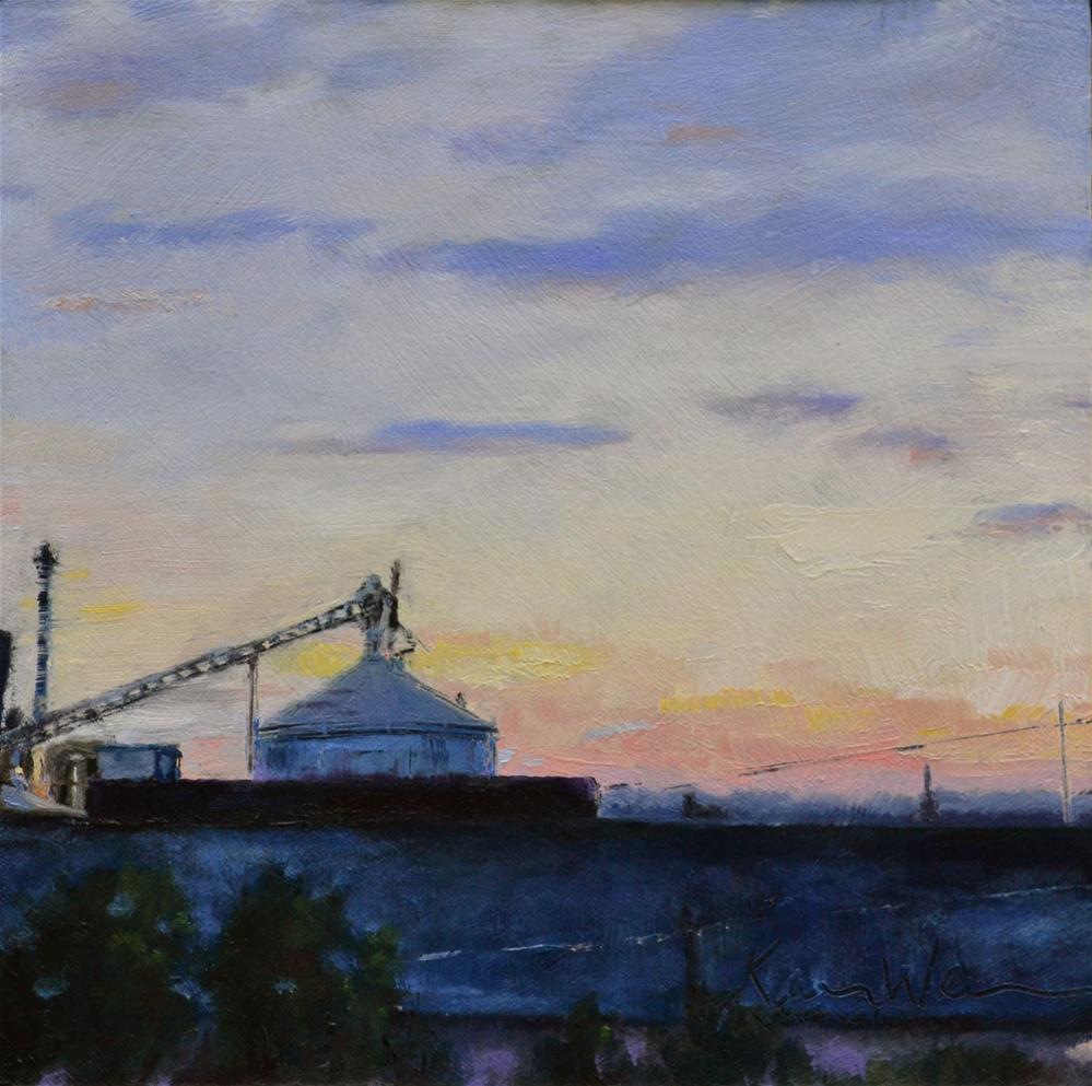 """""""Mt. Penn Sunset"""" original fine art by Karen Weber"""