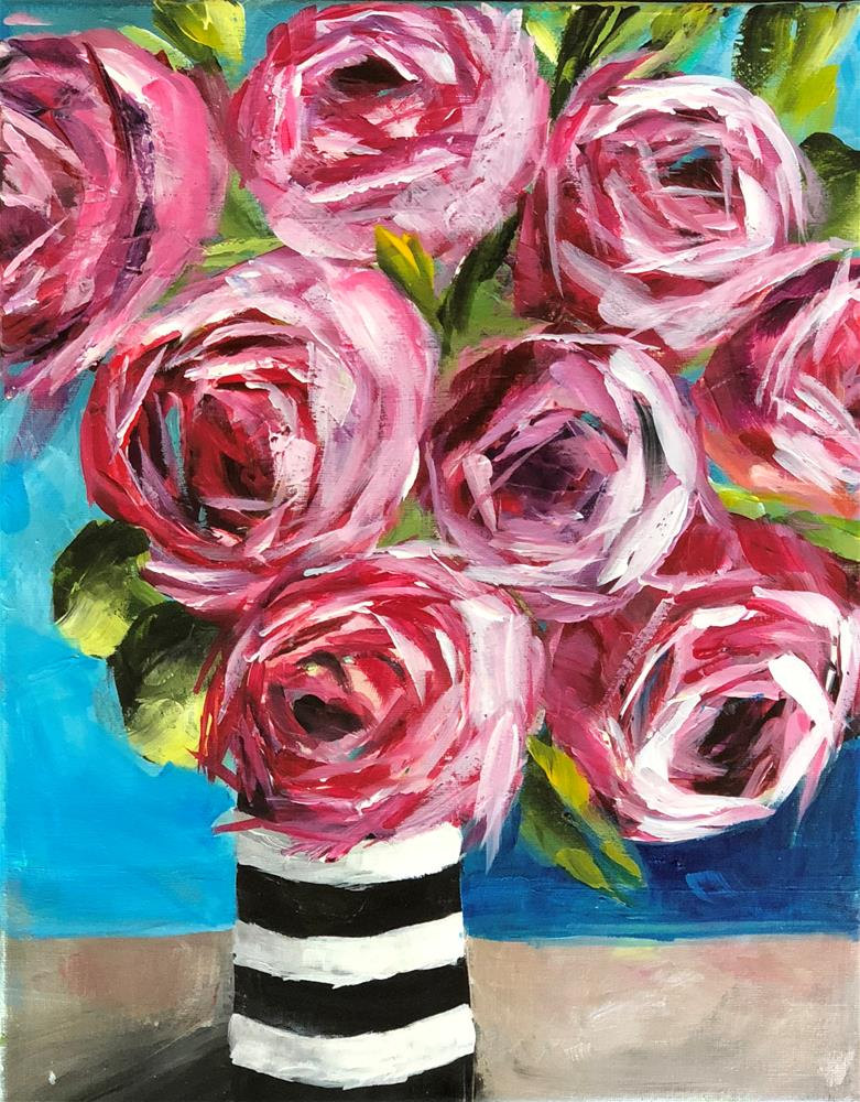 """Roses from My True Love"" original fine art by Renee Robison"