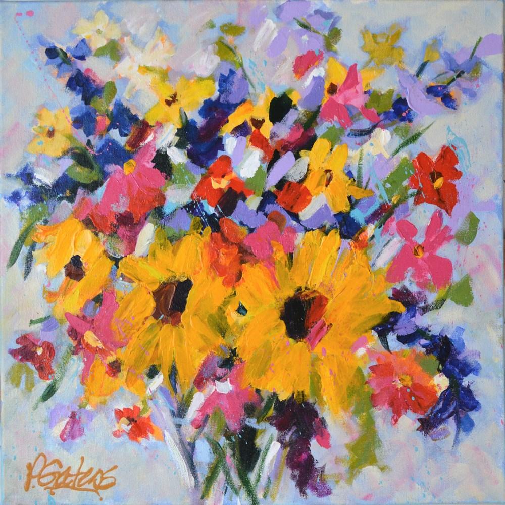 """Sunflower Sisters"" original fine art by Pamela Gatens"
