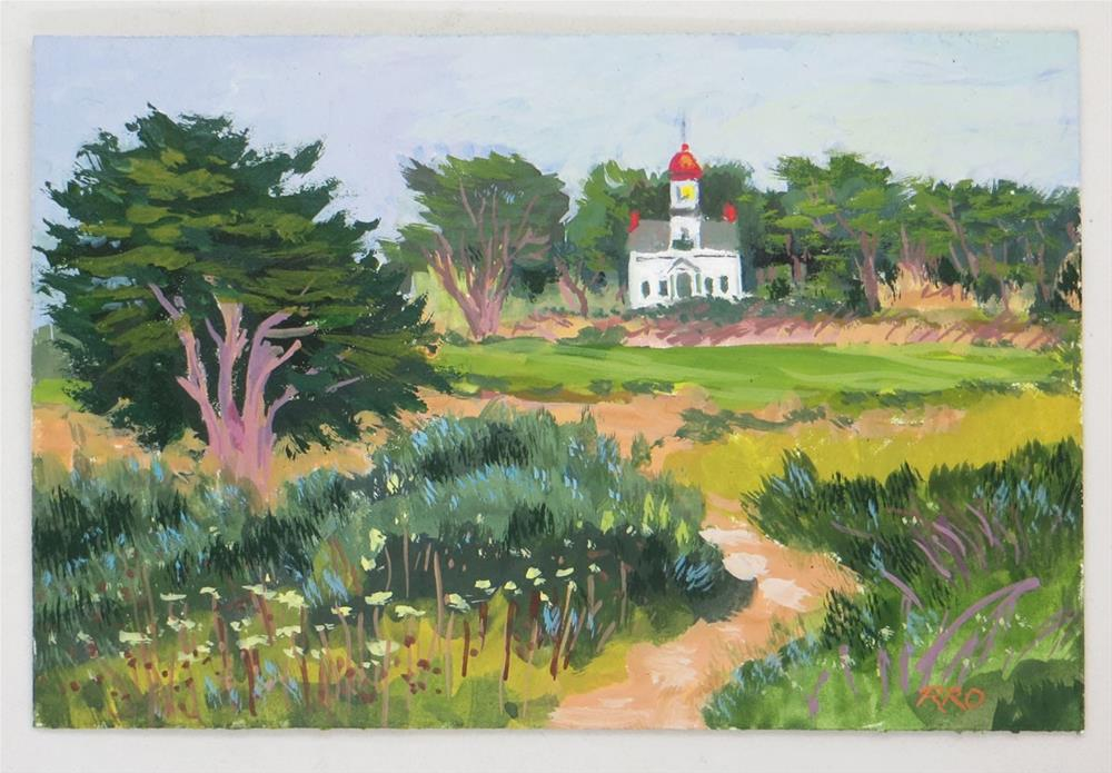 """Pacific Grove's Point Pinos Lighthouse"" original fine art by Rhett Regina Owings"