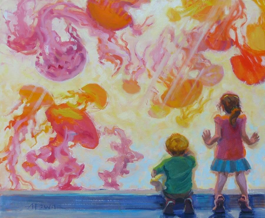 """""""Underwater Wonderworld"""" original fine art by Anette Power"""