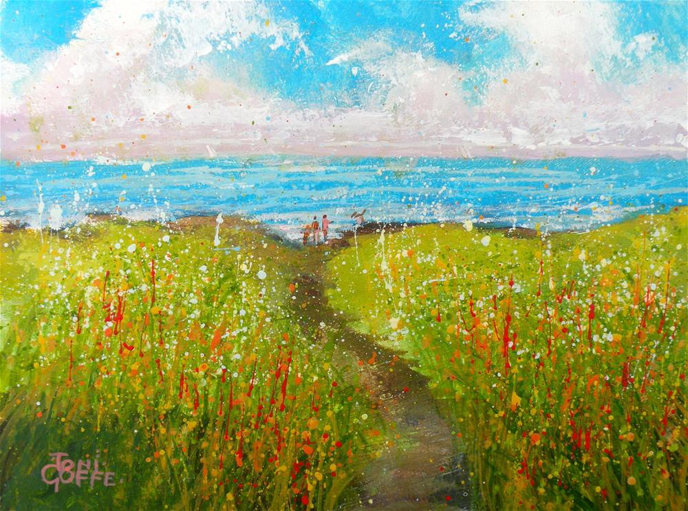 """The Walk to the Rocks"" original fine art by Toni Goffe"