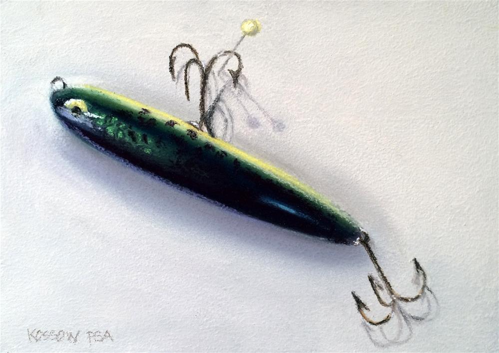 """""""Heddon Zara Spook"""" original fine art by Cristine Kossow"""