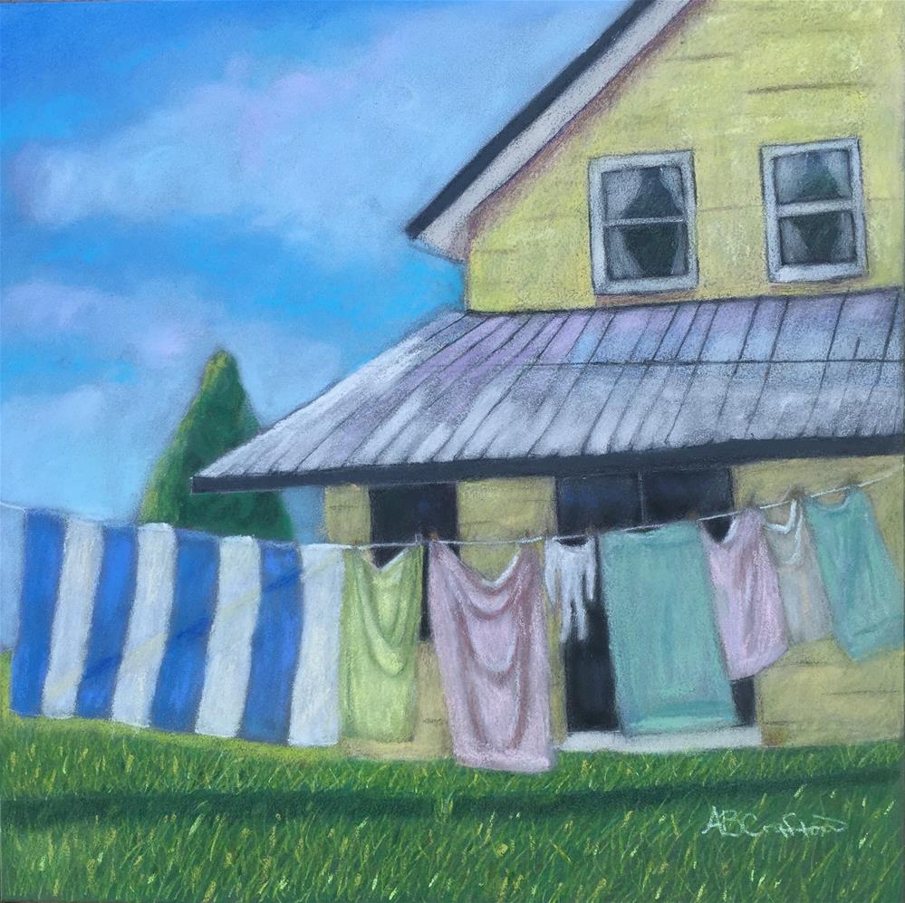"""Laundry Day"" original fine art by Arlene Crafton"