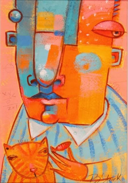 """Here Kitty, Kitty"" original fine art by Brenda York"