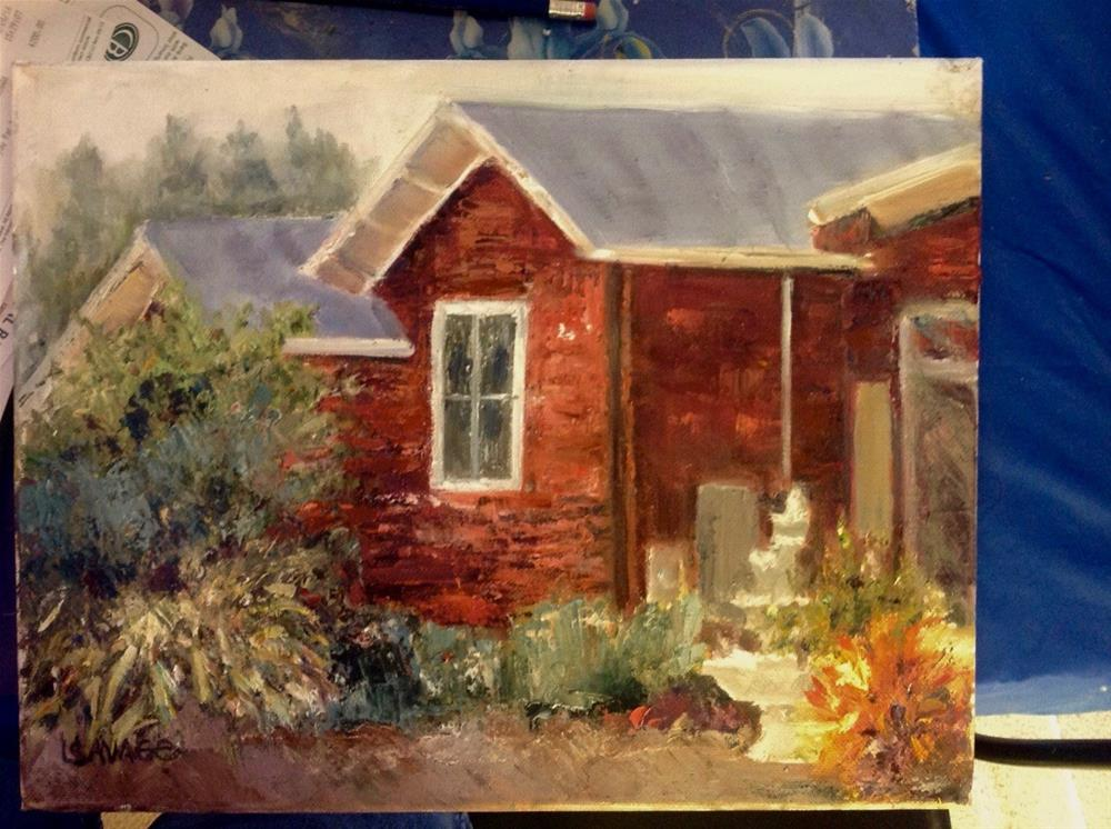 """""""The Old Homestead"""" original fine art by Judy Usavage"""