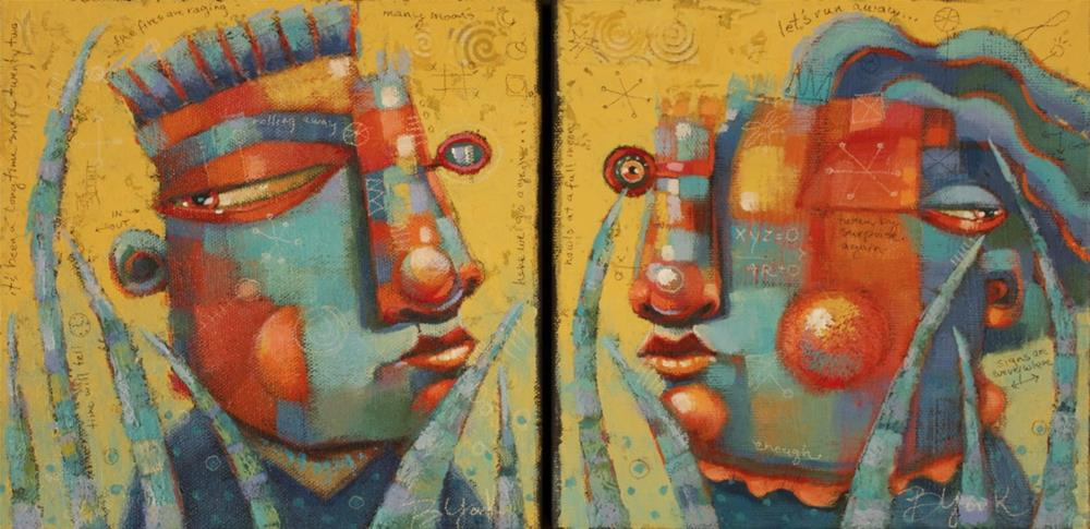 """Blinx"" original fine art by Brenda York"