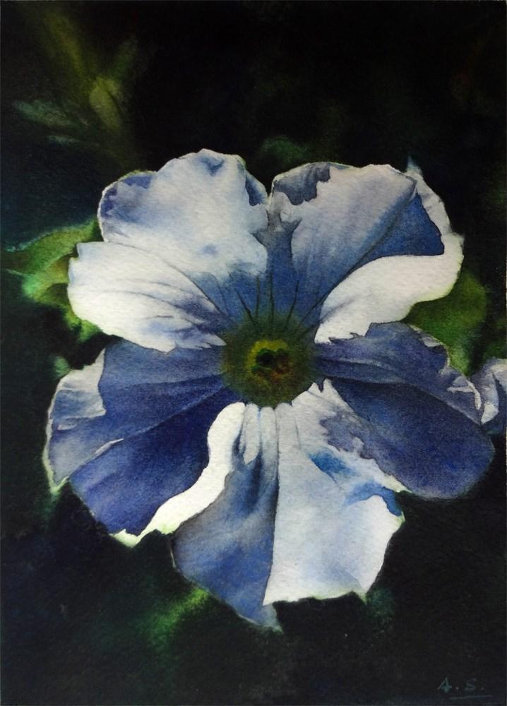 """Dawn Petunia"" original fine art by Arena Shawn"