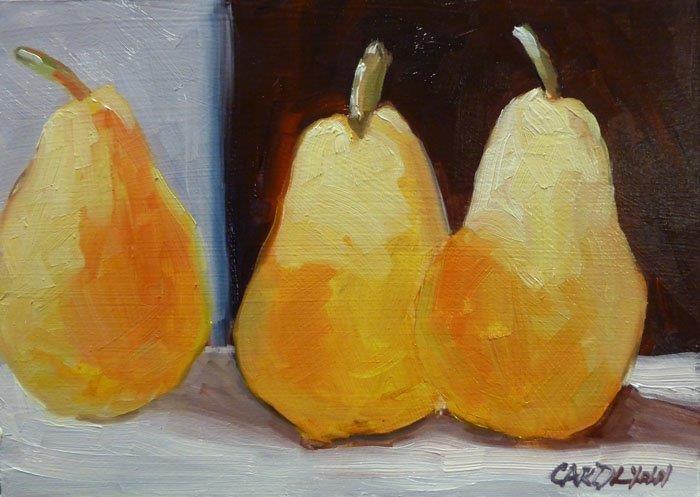 """""""Is Three A Crowd II?"""" original fine art by Carolynn Doan"""