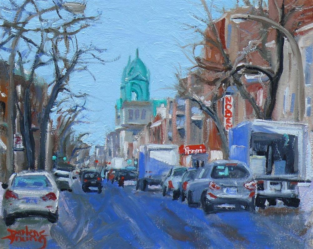 """""""596 Montreal Petite-Patrie"""" original fine art by Darlene Young"""