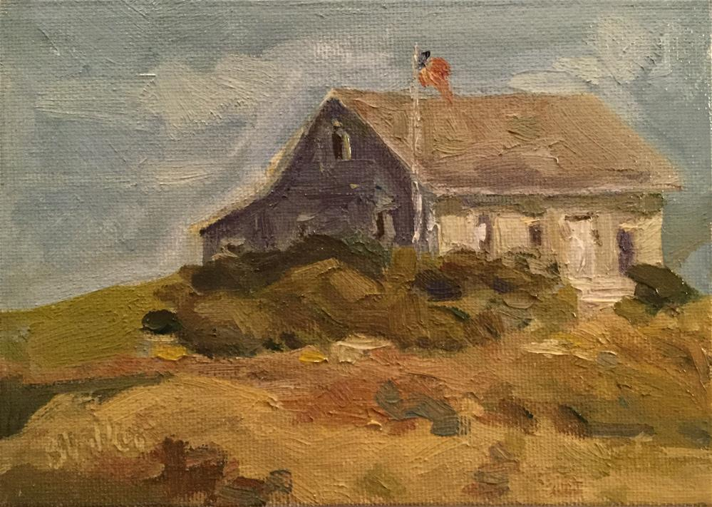 """""""Cottage by the Sea"""" original fine art by Barb Walker"""