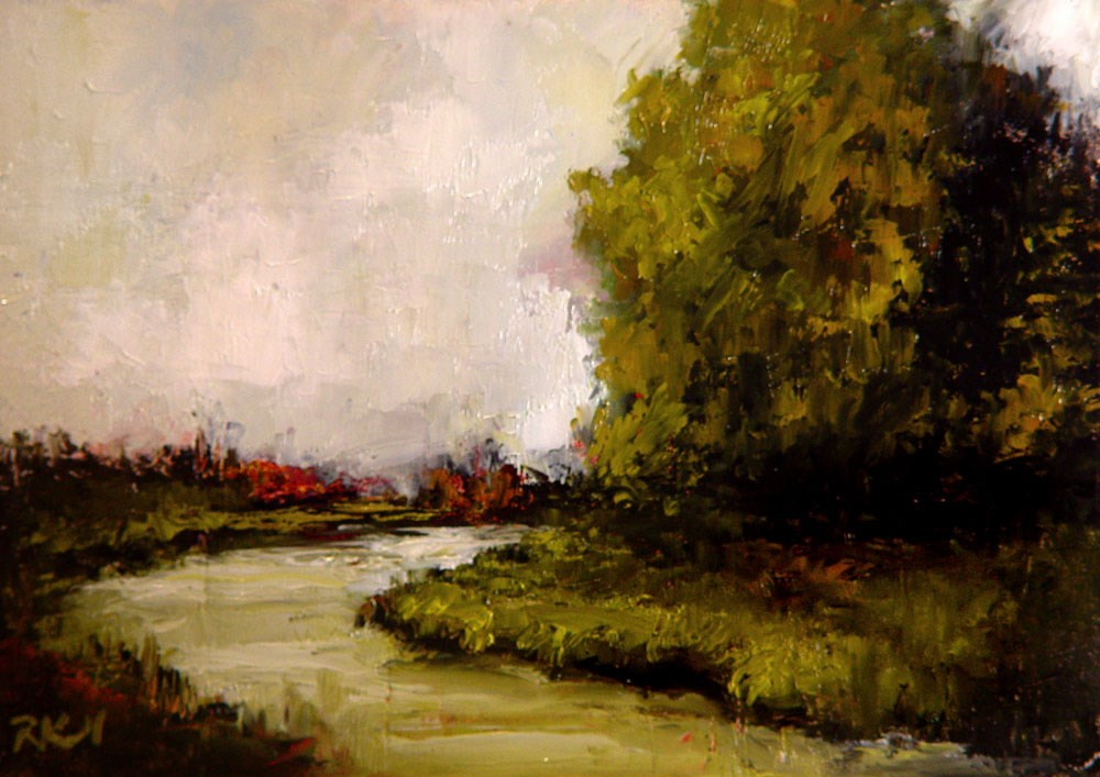 """""""The Tree by the River"""" original fine art by Bob Kimball"""