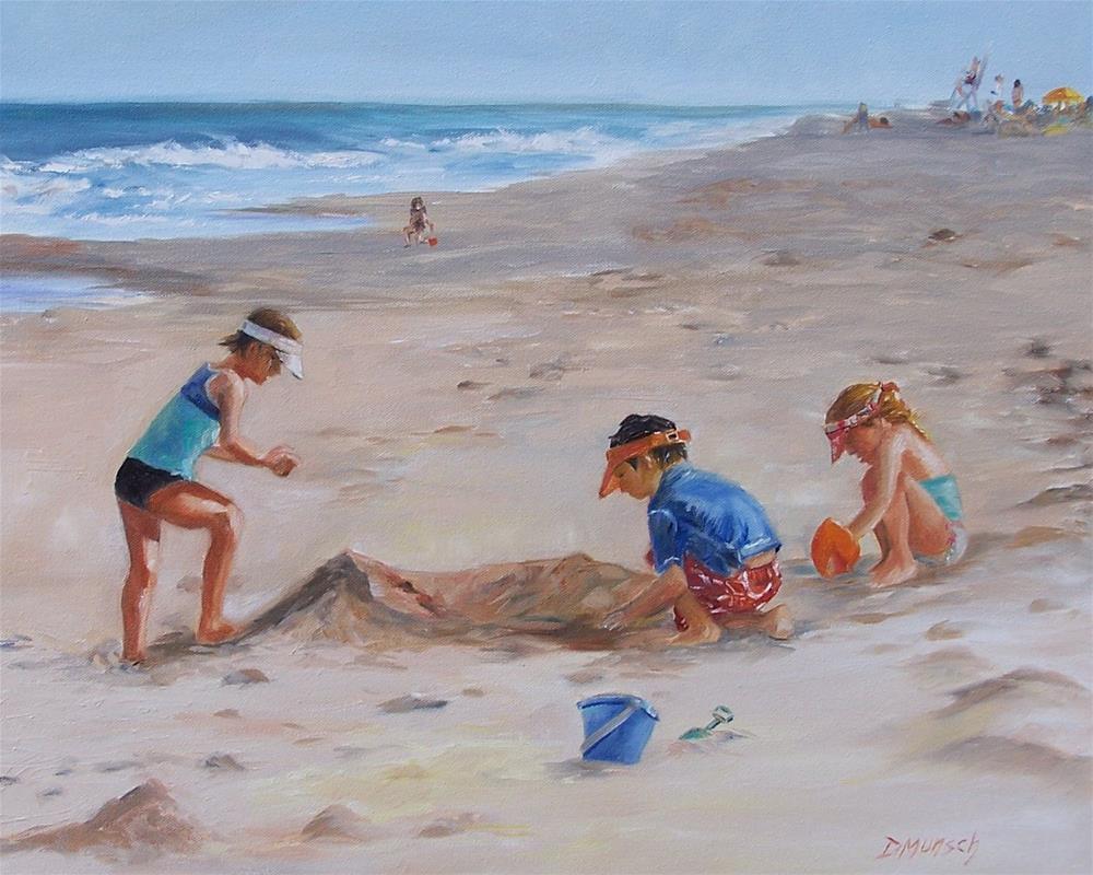 """""""Beach Day"""" original fine art by Donna Munsch"""