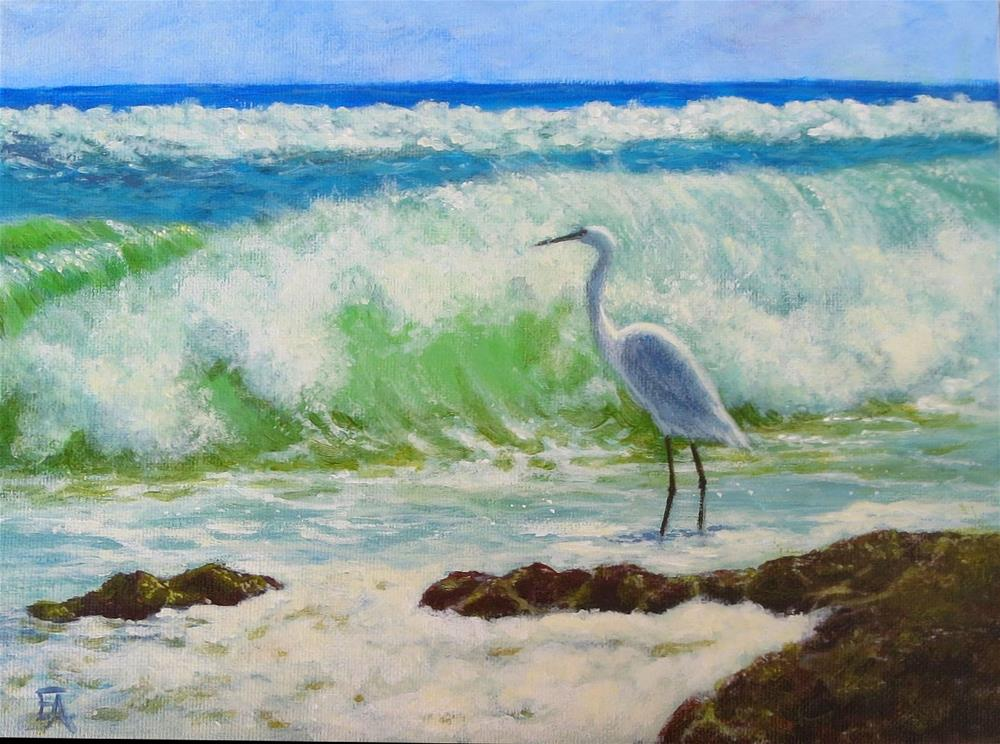 """Wish I Was There"" original fine art by Elizabeth Elgin"