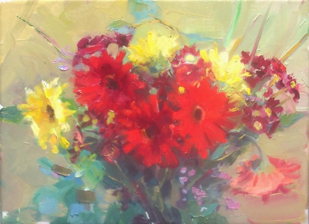 """Winter Flowers,still life,oil on canvas,9x12,price$400"" original fine art by Joy Olney"