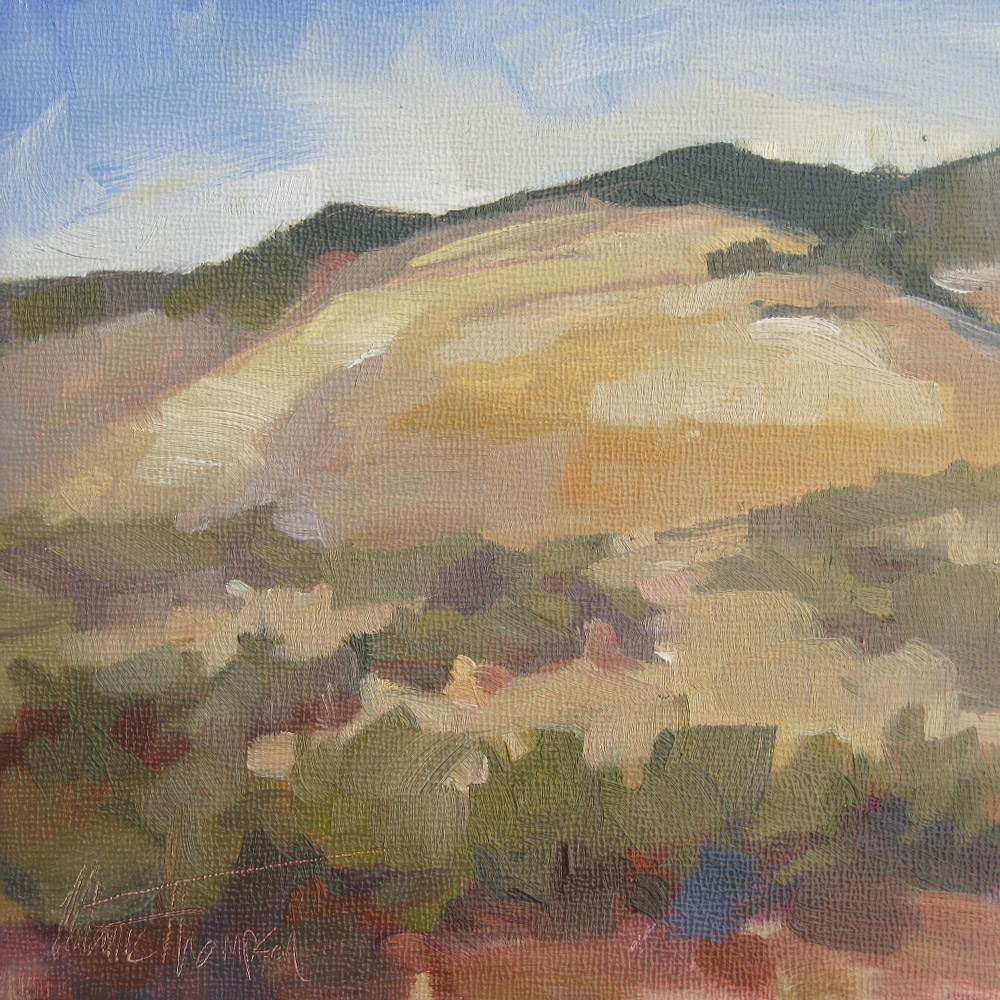 """Hogback Hillside"" original fine art by Melanie Thompson"