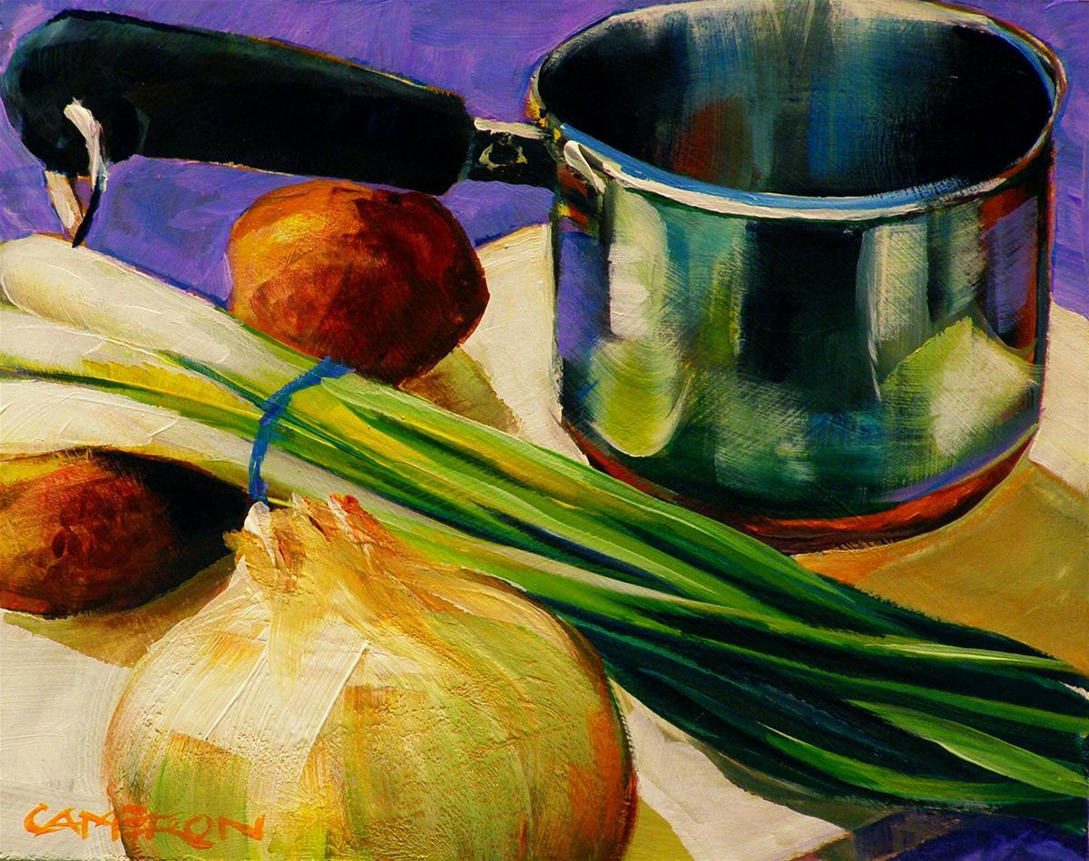 """""""POTATO SOUP"""" original fine art by Brian Cameron"""