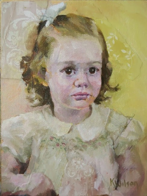 """Little Micki"" original fine art by Katie Wilson"