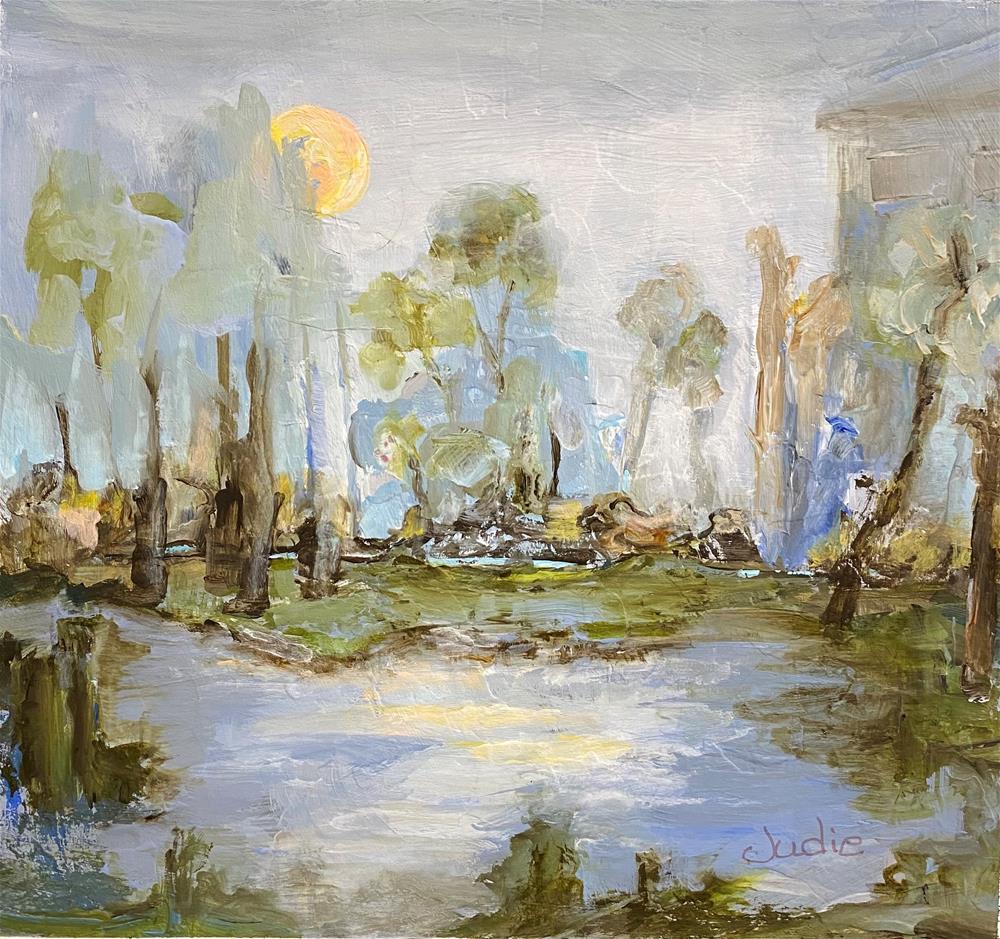 """NEW MOON RISING"" original fine art by Judie Mulkey"