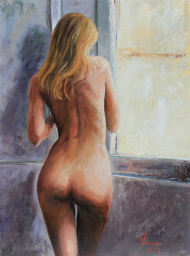 """""""Nude By the window"""" original fine art by Marco Vazquez"""