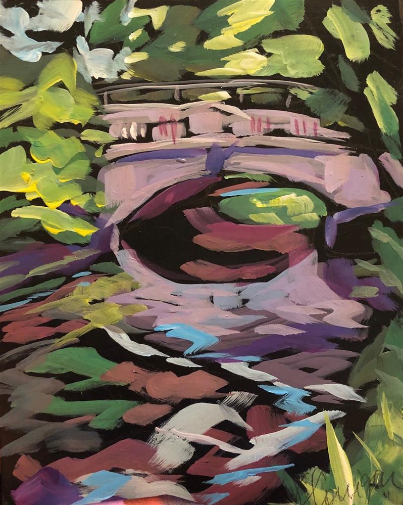 """Minnehaha Creek In blue"" original fine art by Kat Corrigan"