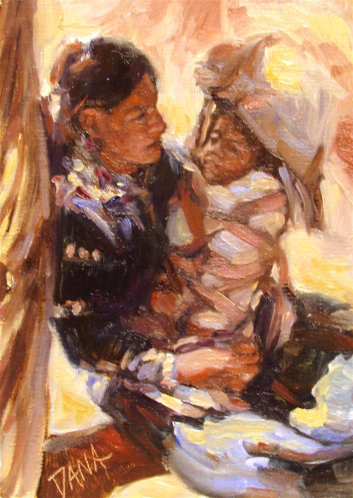 """Native American study"" original fine art by Dana Lombardo"