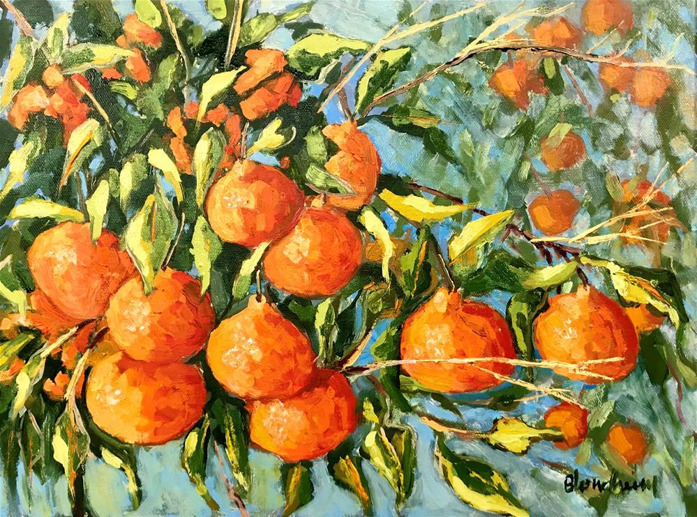 """Tangerine Trees"" original fine art by Linda Blondheim"