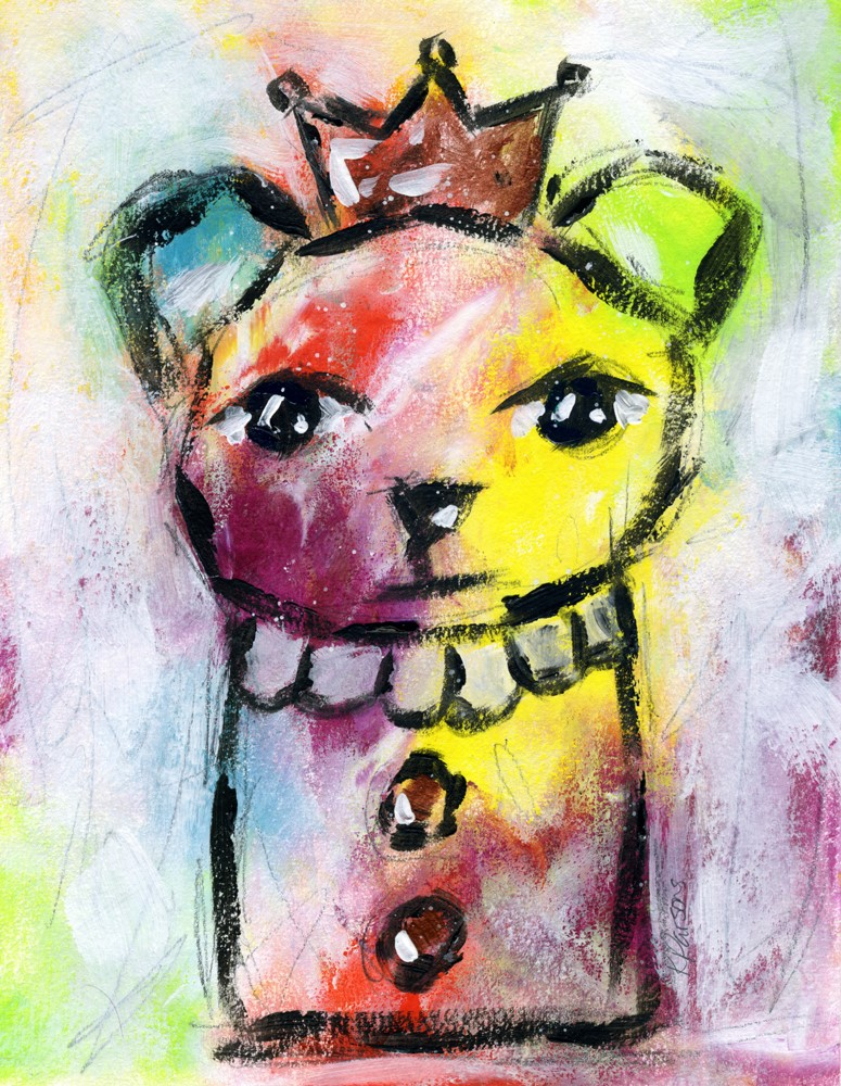 """Rainbow Bear"" original fine art by Kali Parsons"