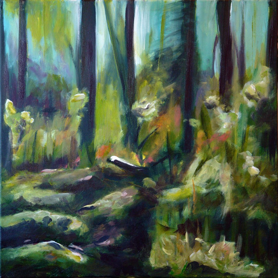 """0578 Spring Forest - Waldfrühling"" original fine art by Dietmar Stiller"