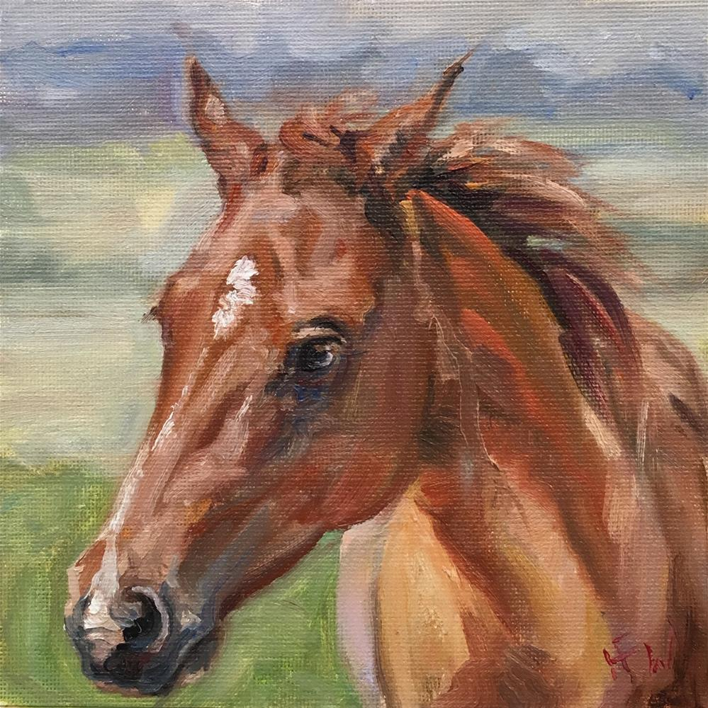 """Young Sorrel"" original fine art by H.F. Wallen"