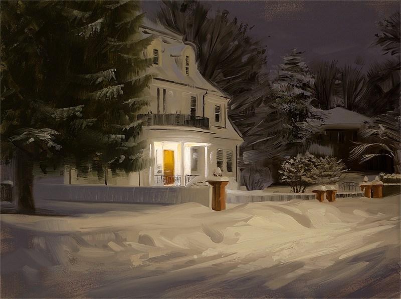 """Snowed In"" original fine art by Rob  Rey"