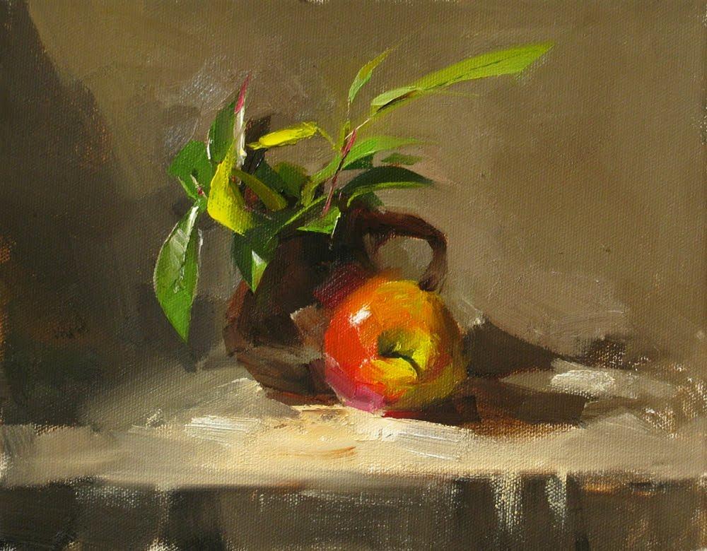 """""""Fresh"""" original fine art by Qiang Huang"""