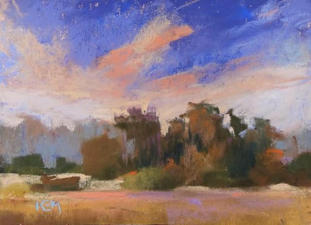 """My Favorite Pastel Box for Travel...Stan Sperlak's Gogh Box"" original fine art by Karen Margulis"