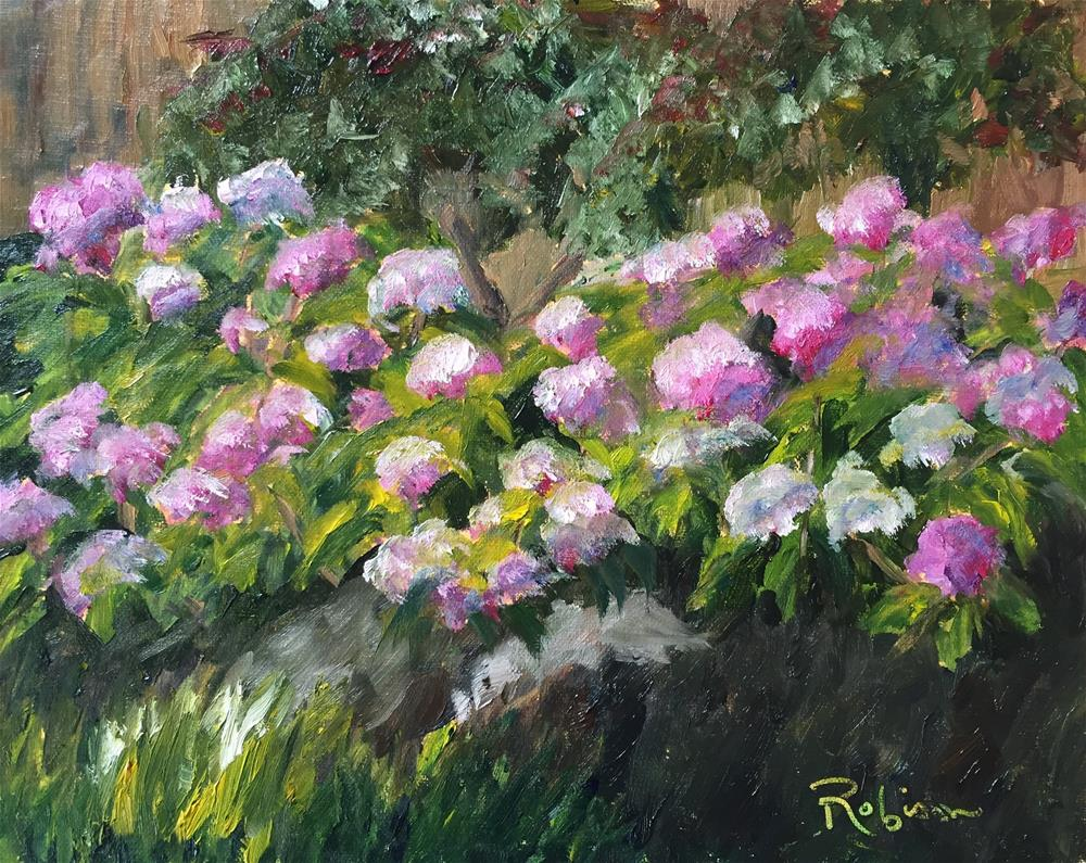 """Backyard Pop of Color"" original fine art by Renee Robison"