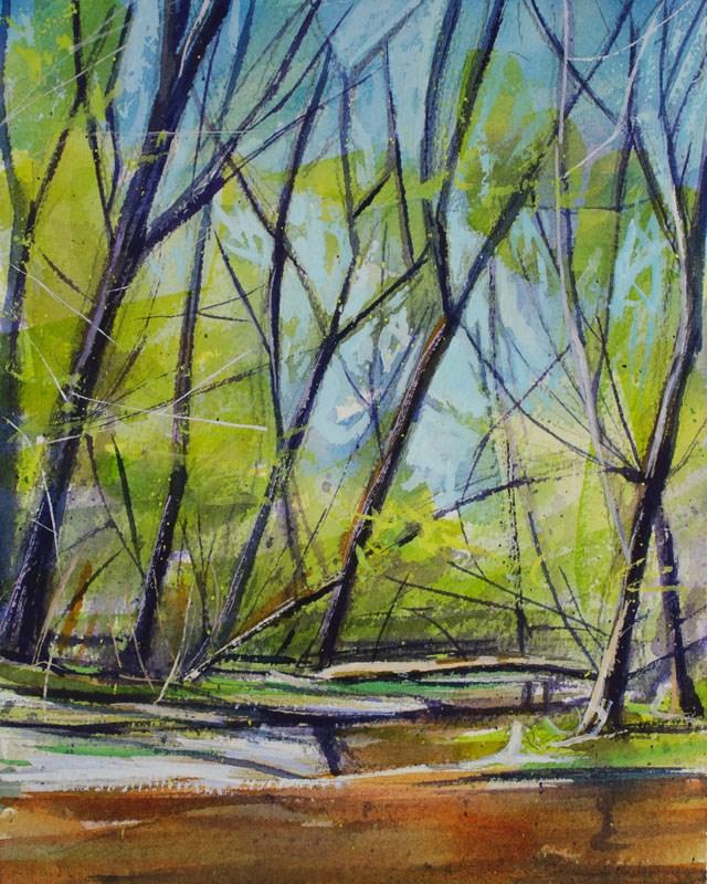 """""""Spring Leaves"""" original fine art by Chris Breier"""