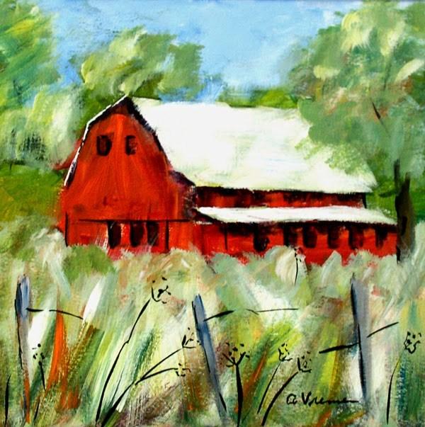 """""""Barn #7"""" original fine art by Anna Vreman"""