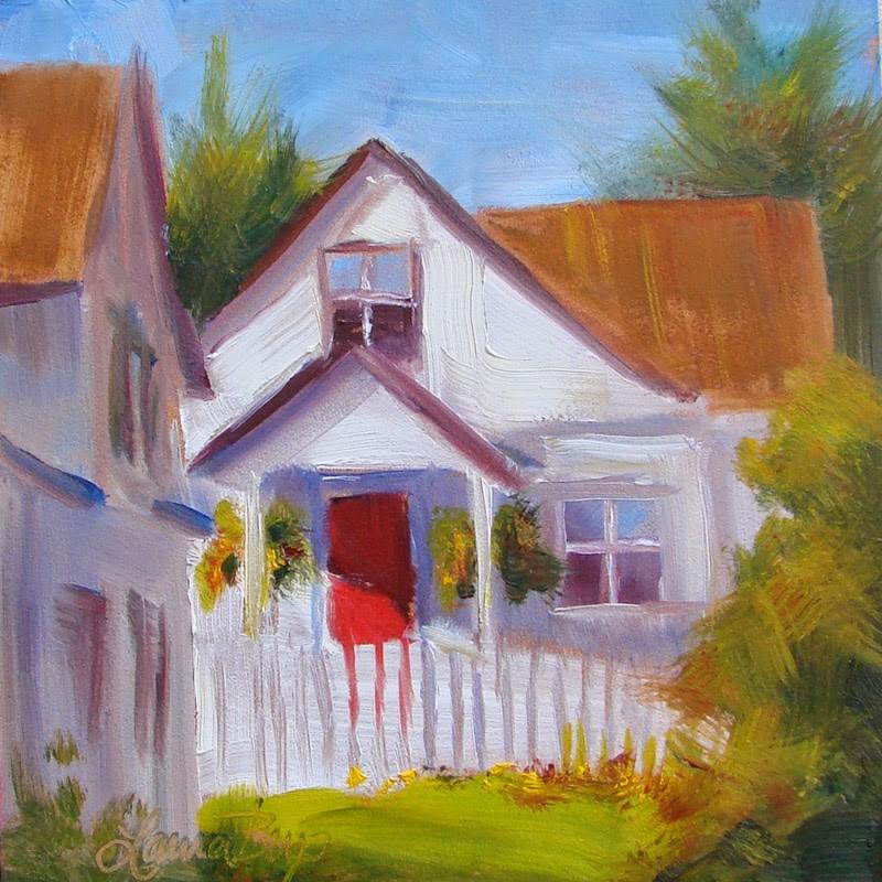 """""""Red Door 223"""" original fine art by Laura  Buxo"""