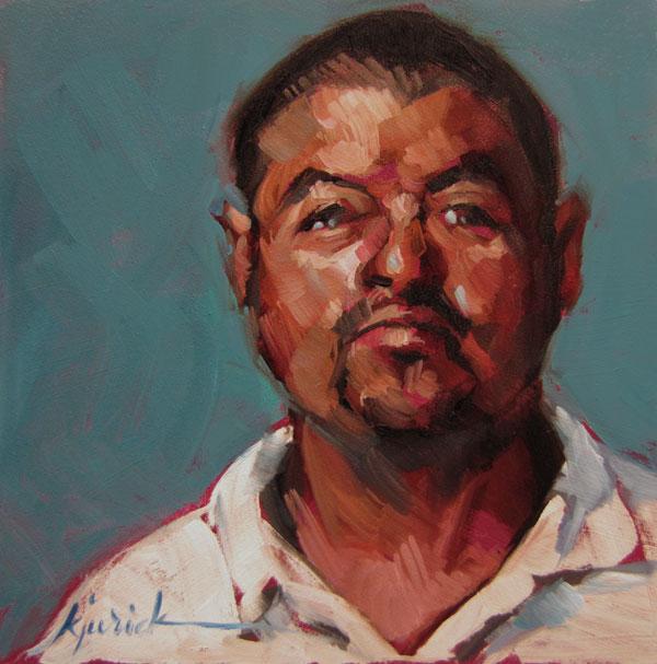 """100 Faces, No. 84"" original fine art by Karin Jurick"