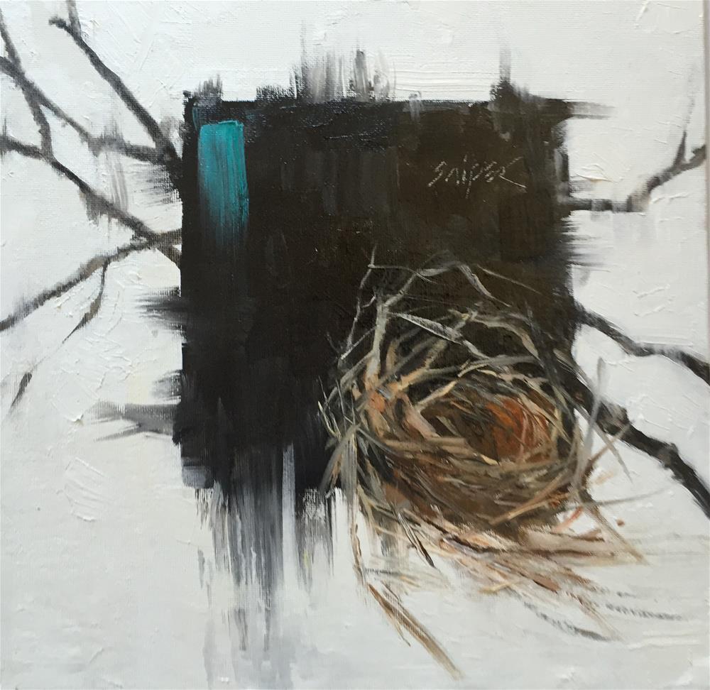 """""""Bird Nest, Day 3"""" original fine art by Connie Snipes"""