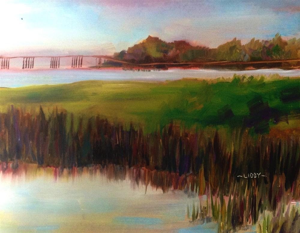 """The Bridge"" original fine art by Libby Anderson"