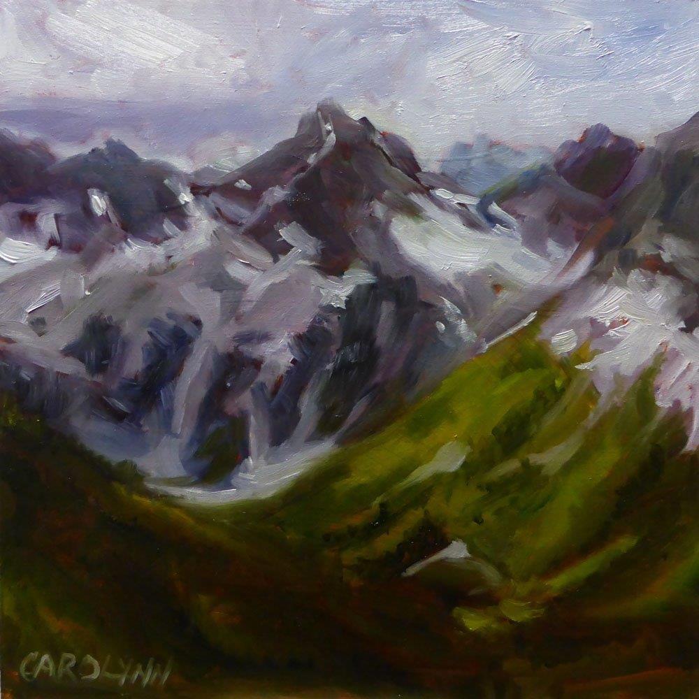 """""""Hiking Near Mount Macbeth"""" original fine art by Carolynn Doan"""