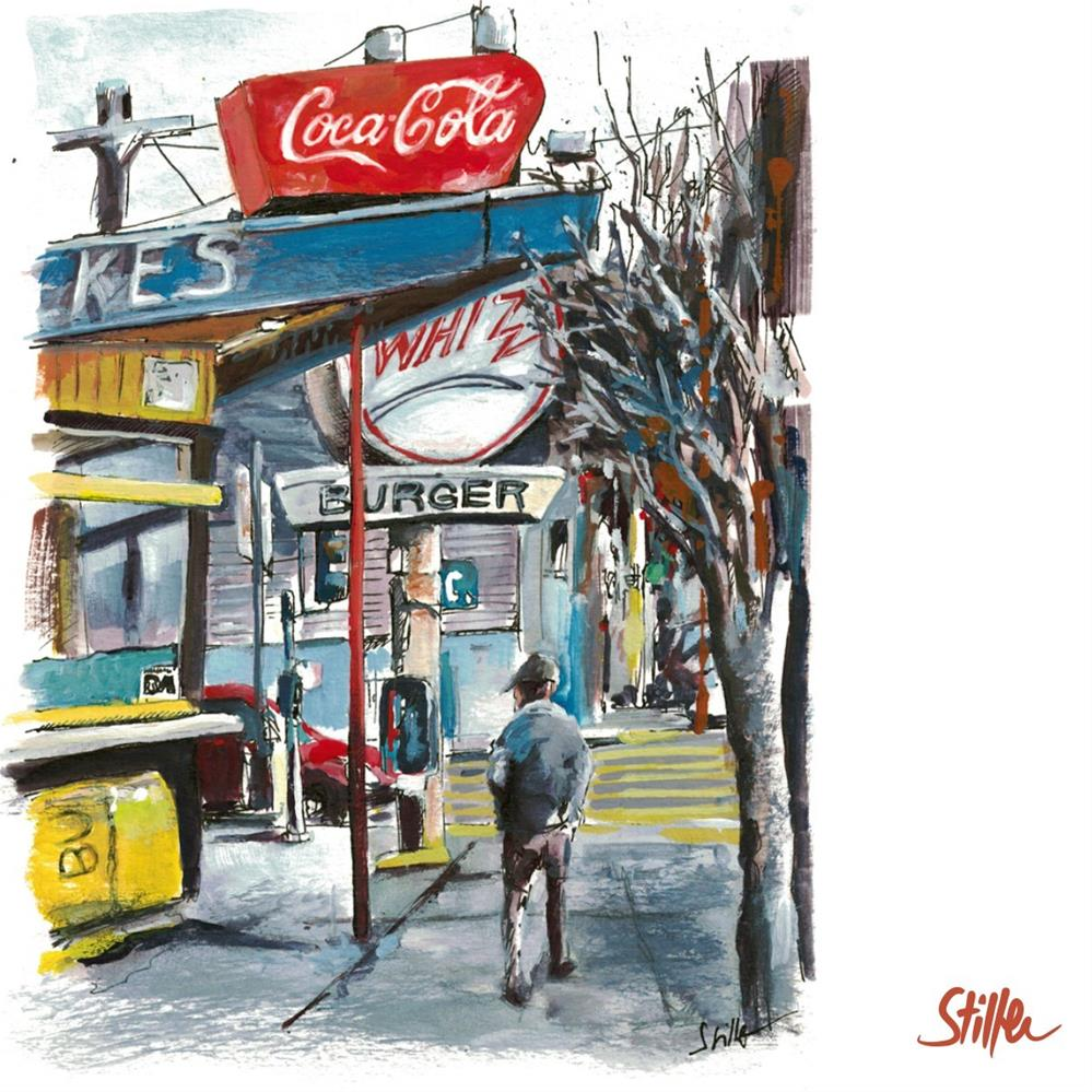 """3310 Burger Shop"" original fine art by Dietmar Stiller"