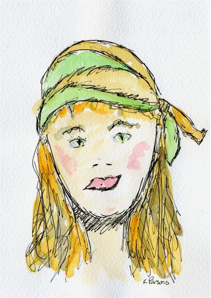 """""""Hippie Chick"""" original fine art by Kali Parsons"""