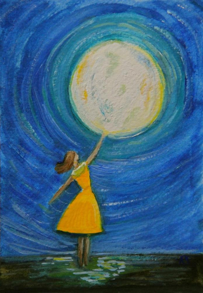 """Reaching For The Moon"" original fine art by Roberta Schmidt"
