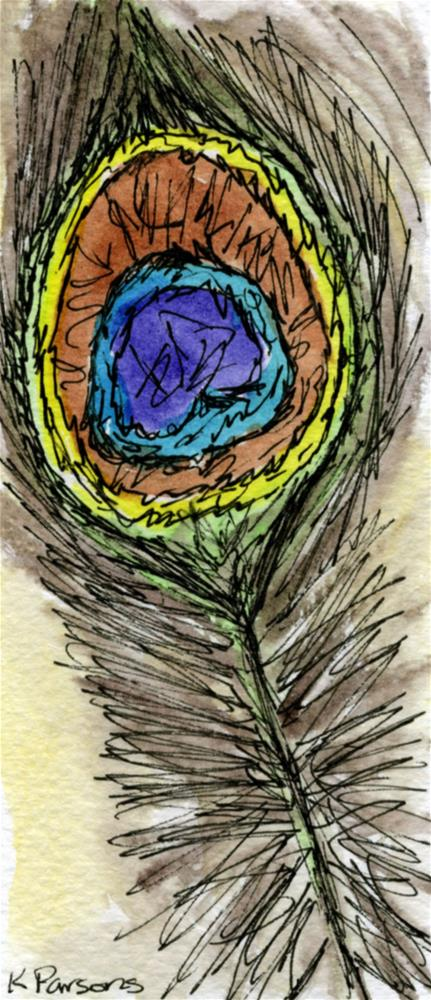 """""""Peacock Feather"""" original fine art by Kali Parsons"""