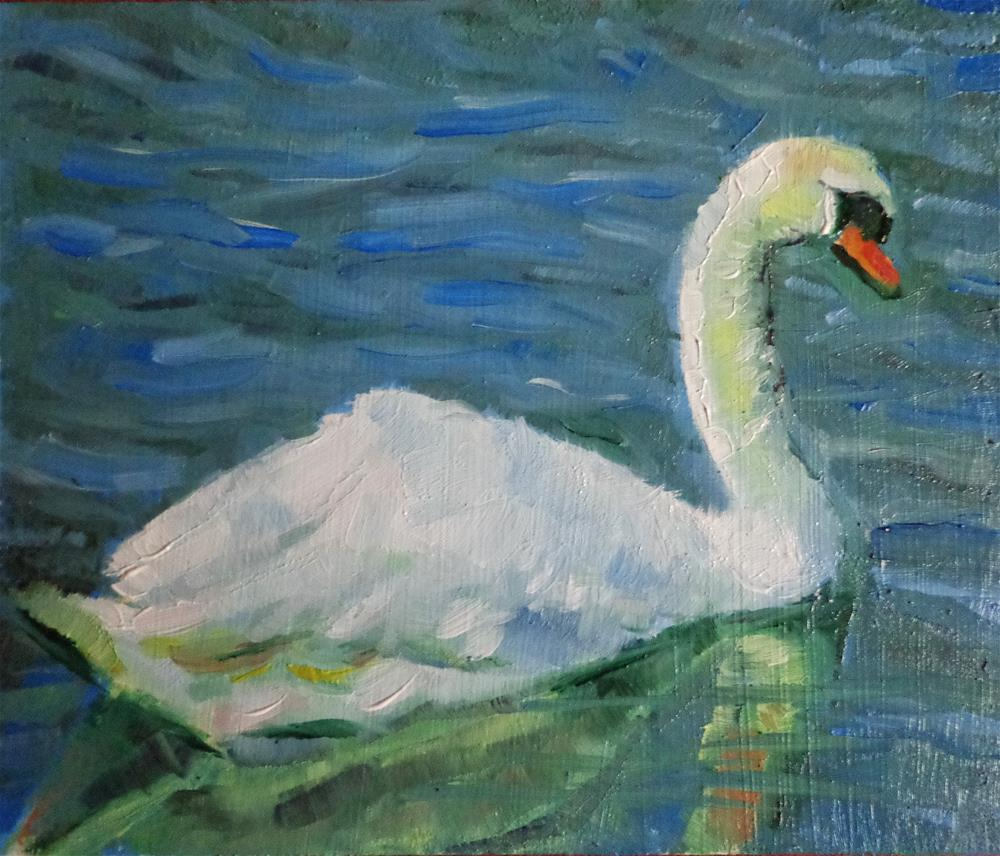"""Swan"" original fine art by Maria Z."